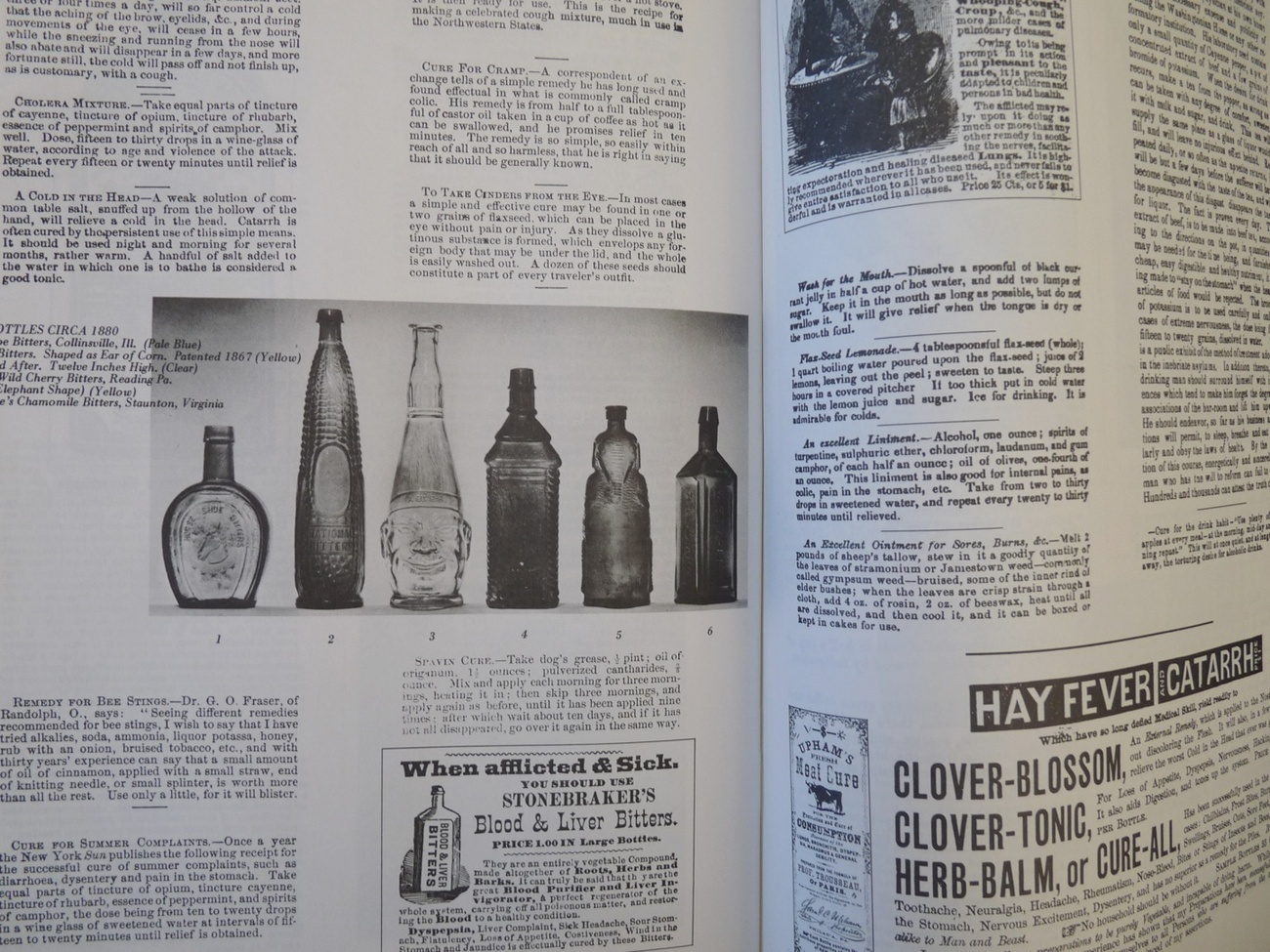 Early American Home remedies book patent medicine bottles antique vintage