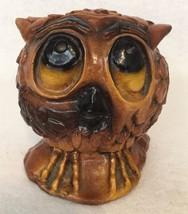 "Vintage Charming ceramic owl figure big eyes Terrestone Ozarks 4.5"" - $15.85"