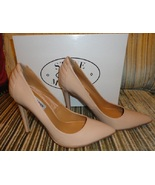 new steve madden pumpper pumps / heels size 7.5 nude patent synthetic - $45.00