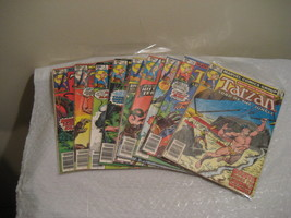 Tarzan Lord Of The Jungle, F-VF Cond. Marvel Comic Book Lot 9 Each 1977-78 - $19.99