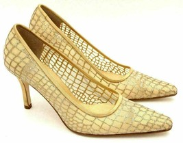 Bandolino Bestevex3 Women Classic Pump Heels Size US 7.5M Gold Silver Clear - $27.04