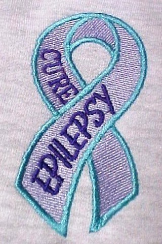 Primary image for Cure Epilepsy Awareness 2XL Teal Lilac Purple Ribbon Gray Hoodie Sweatshirt New