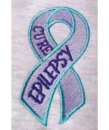 Cure Epilepsy Awareness 2XL Teal Lilac Purple Ribbon Gray Hoodie Sweatsh... - $36.83