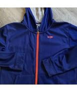 Boys Champion Full Zip Sweatshirt L 12-14 Blue Orange Pockets Hooded - $11.30