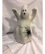 Fitz and Floyd Halloween Holloween Ghost with Spider Cookie Jar Decorati... - $55.00