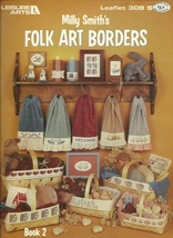 Folk Art Borders Counted Cross Stitch Pattern Leisure Art 308 Ducks Basket Towel - $2.93
