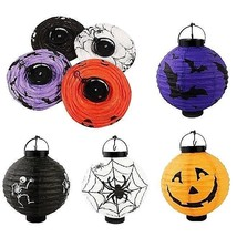 "LED Paper Hanging 8"" HALLOWEEN LANTERNS Requires 2 AAA Batteries - $7.99"