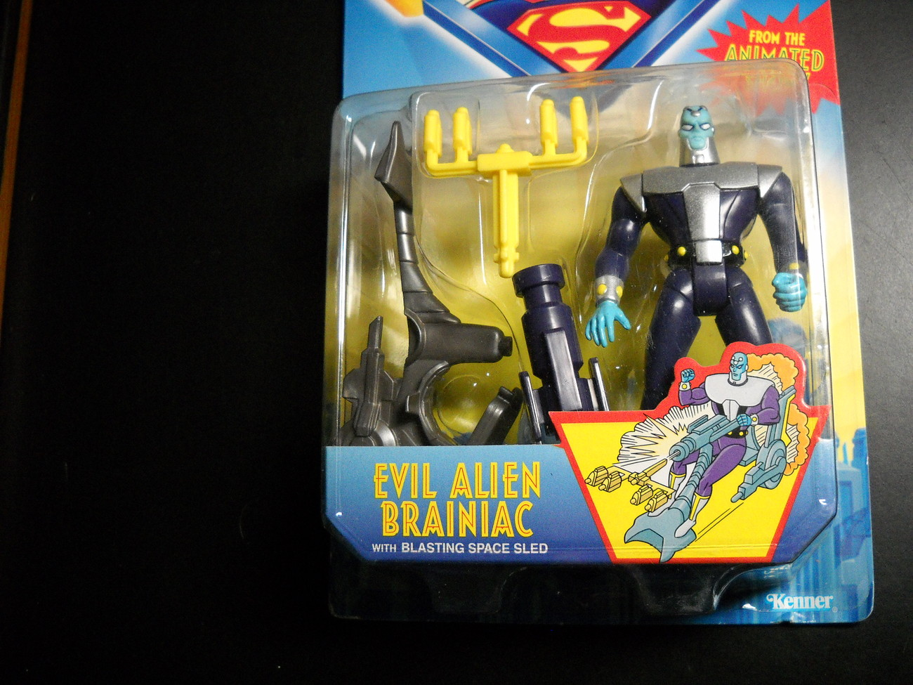 Kenner Hasbro Superman Animated Show Brainiac 1996 Sealed Kenner Hasbro Sealed