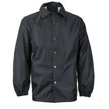 Men's Lightweight Water Resistant Windbreaker Coach Jacket w/ Defect - XXL