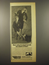 1965 UTA Airlines Ad - What's making the young jet set such keen students - $14.99