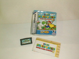 Gameboy advance 2002 super mario world advance 2 game box tested - $25.00