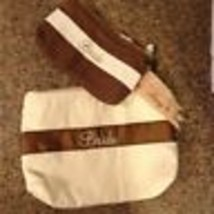 Bride Women's Cosmetic Bag Ivory & Brown Set of 2 New! - $17.42
