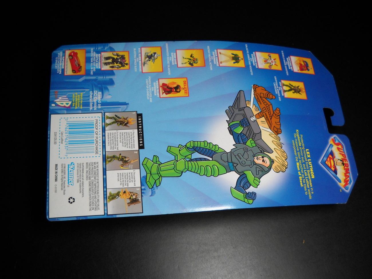 Kenner Hasbro Superman Animated Show Lex Luthor 1996 Sealed Kenner Hasbro