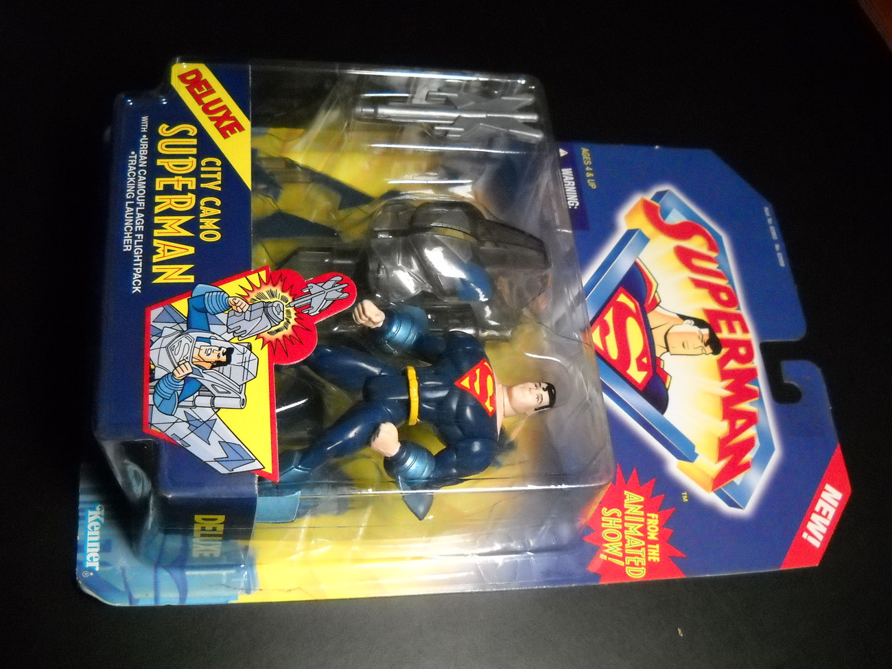 Toy superman kenner 1996 animated series city camo superman moc 01