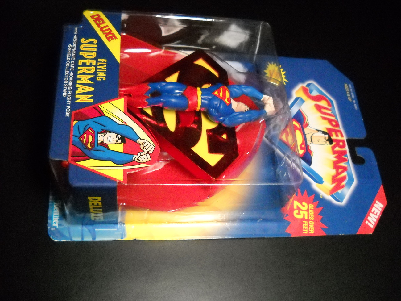 Toy superman kenner 1996 animated series flying superman deluxe moc 01