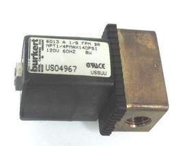 BURKERT 6013-A-1/8-FPM-BR SOLENOID VALVE BRASS 2WAY NC 1/4IN NPT 8W 120VAC