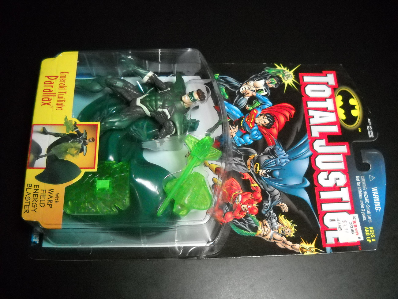 Toy justice league kenner hasbro 1997 total justice emerald twilight parallax moc 01