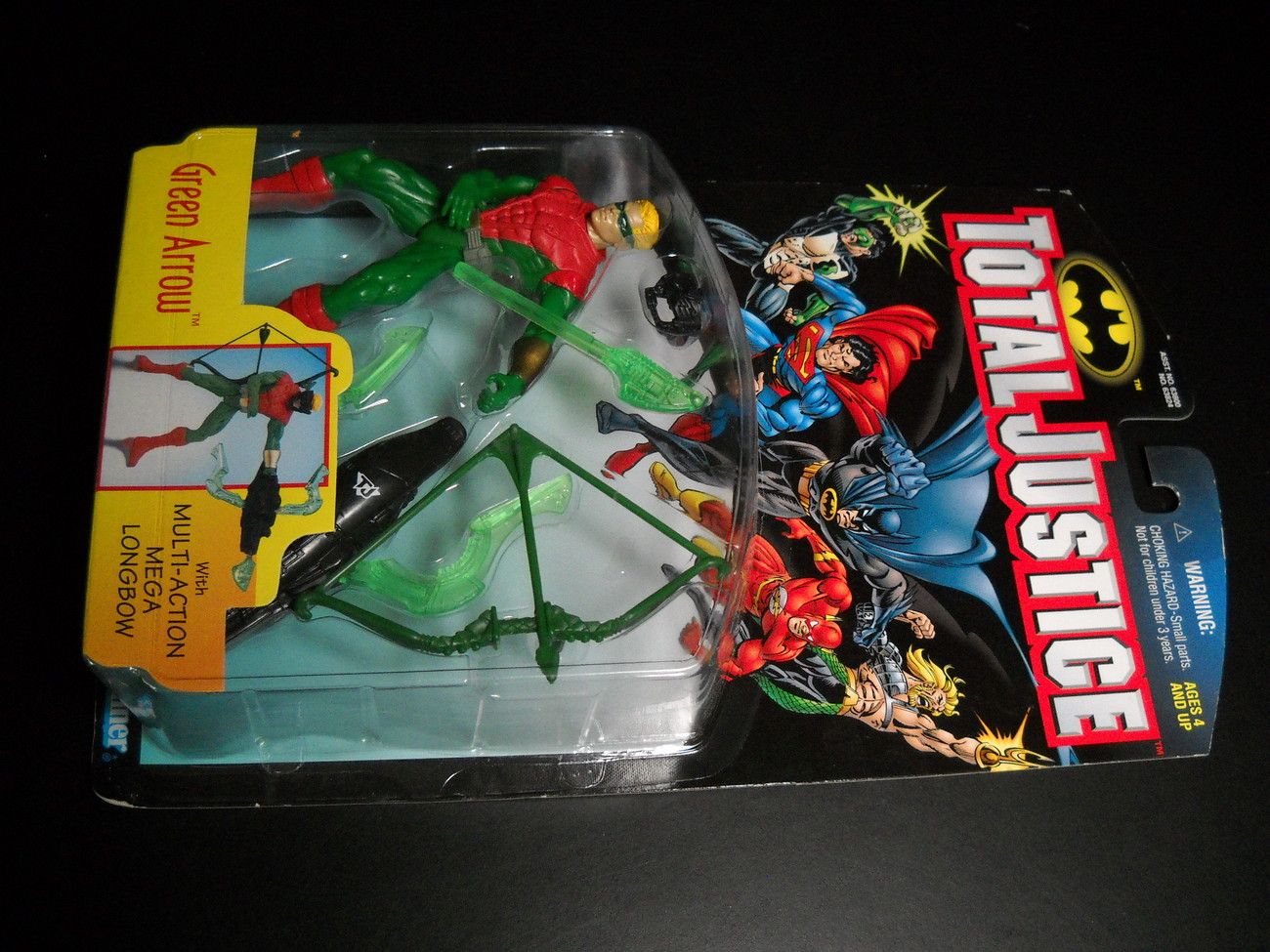 Toy justice league kenner hasbro 1997 total justice green arrow moc 02