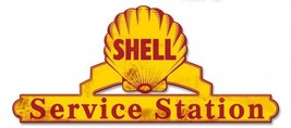 "Shell Service Station Lase Cut Metal Sign ( 25"" by 11"" ) - $59.95"