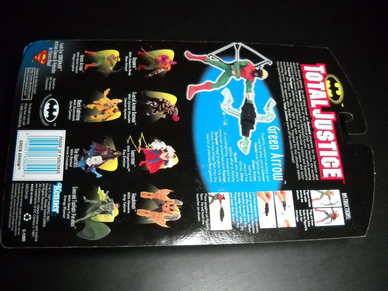 Kenner Hasbro Total Justice League Green Arrow 1997 Still Factory Sealed on Card