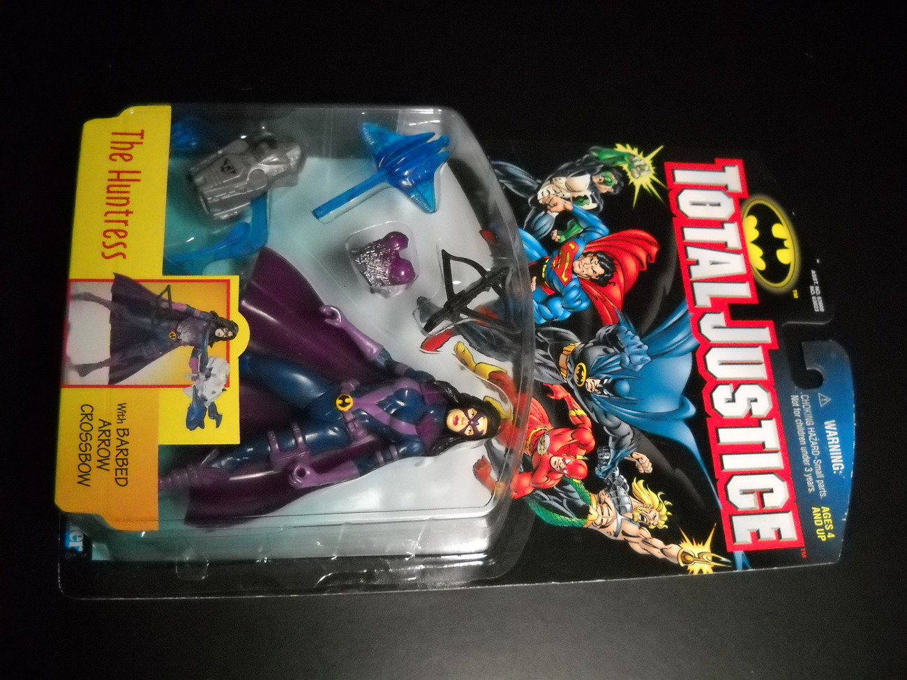 Toy justice league kenner hasbro 1997 total justice huntress moc 02
