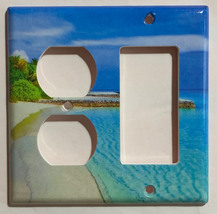 Blue Tropical beach ocean Light Switch Power Outlet Wall Cover Plate Home decor image 6
