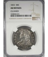 1833 NGC AU Details Capped Bust Half Dollar Certified Coin AK31 - $270.80