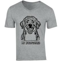 Bernese Mountain Dog My Bodyguard - New Cotton Grey V-NECK Tshirt - $20.70