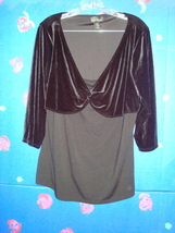 LANE BRYANT VELOUR TOP 14/16 - $9.99