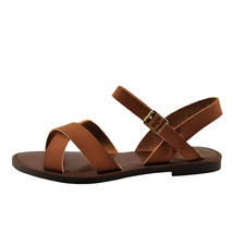 Soda Mermaid-S Tan Women's Open Toe Criss Cross Sandals - $21.95+