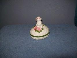 Avon Trinket Box 1982 bunny Rabbit  - $6.99