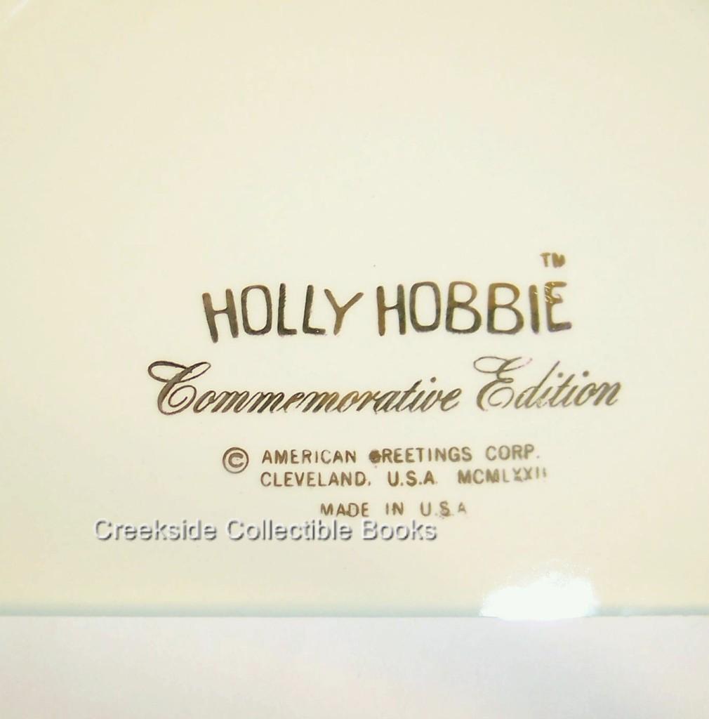 """Holly Hobbie 1972 Christmas Day Plate 10.25"""" USA"""