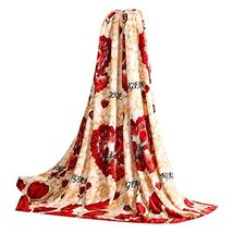 Flower Pattern Coral Carpet Infant Towel Air Conditioning Blanket image 2