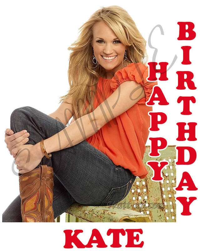 Personalized Carrie Underwood Birthday T-Shirt Gift