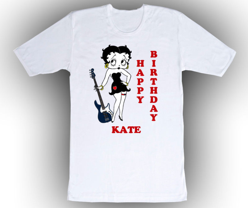 Personalized Betty Boop Birthday T-Shirt Gift Add Name