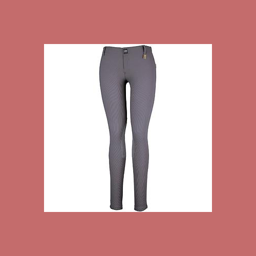 Devon-Aire Ladies All-Pro Dev-Tek Ribbed Hipster Breeches Small Charcoal - NEW!