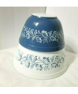 2 Pyrex Blue White Colonial Mist Mixing Bowls #401 750 ml AND #402 1.5 Q... - $42.07