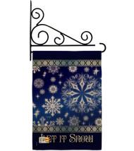 Let It Snow Dream Burlap - Impressions Decorative Metal Fansy Wall Bracket Garde - $33.97