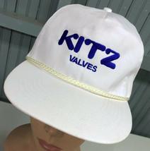 Kitz Valves Vintage Rope Front Strapback Baseball Hat Cap - $24.43