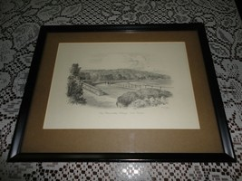 Original Art UK Artist JUDGES Pencil Sketch Promenade Grange Over Sands ... - $301.65