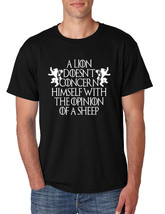 Men's T Shirt Lion Doesn't Concern Himself With Opinion Of Sheep - $16.94+