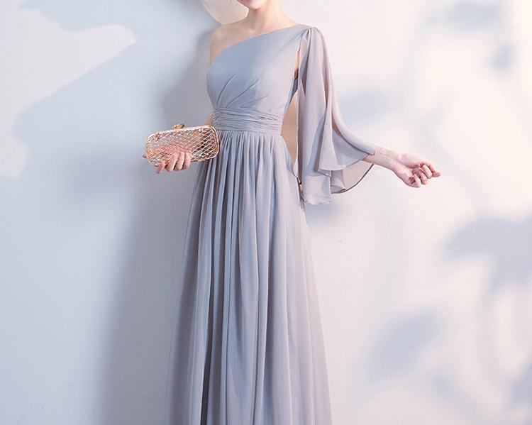 Gray bridesmaid dress 5