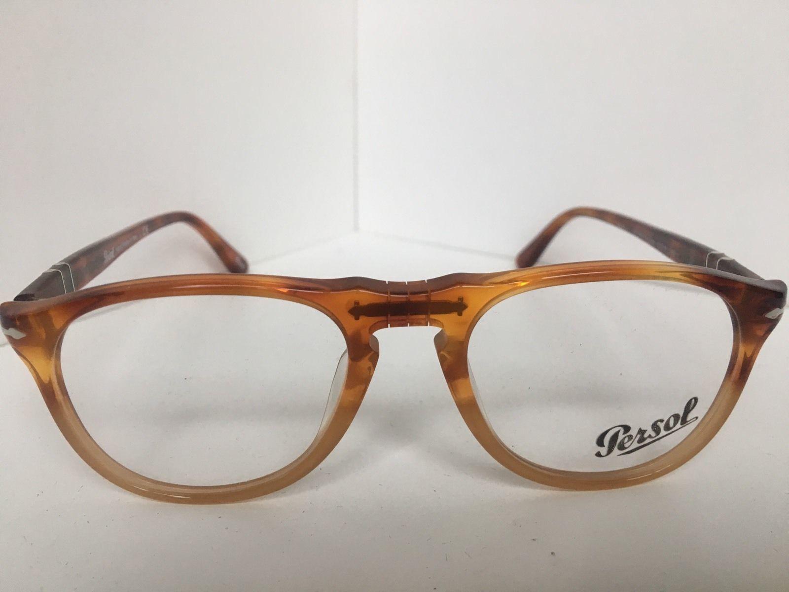 219477a939 New Persol 9649-V 1025 Amber Resina e Sale 50mm Eyeglasses Frame Italy