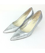Chanel Silver Heals Women Size 40 USA size 10 with Box Receipt and 2 dus... - $347.39