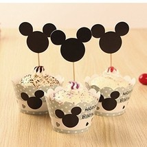 12Pcs Lovely Double-Sided Cupcake Picks Cake Toppers And Paper Cupcake W... - $26.64