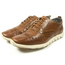 Cole Haan Zerogrand British Tan Leather Wingtip Oxford Shoes Womens Size... - £55.20 GBP