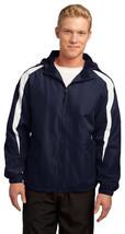 Sport-Tek JST81 Mens Fleece Lined Jacket - True Navy/White - $31.98+