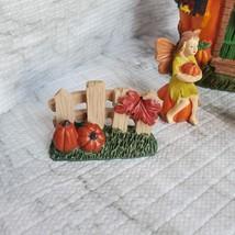 Fall Fairy Garden Set, Pumpkin Fairy House, Tiny Gnome Hut, Autumn Fairy Decor image 8