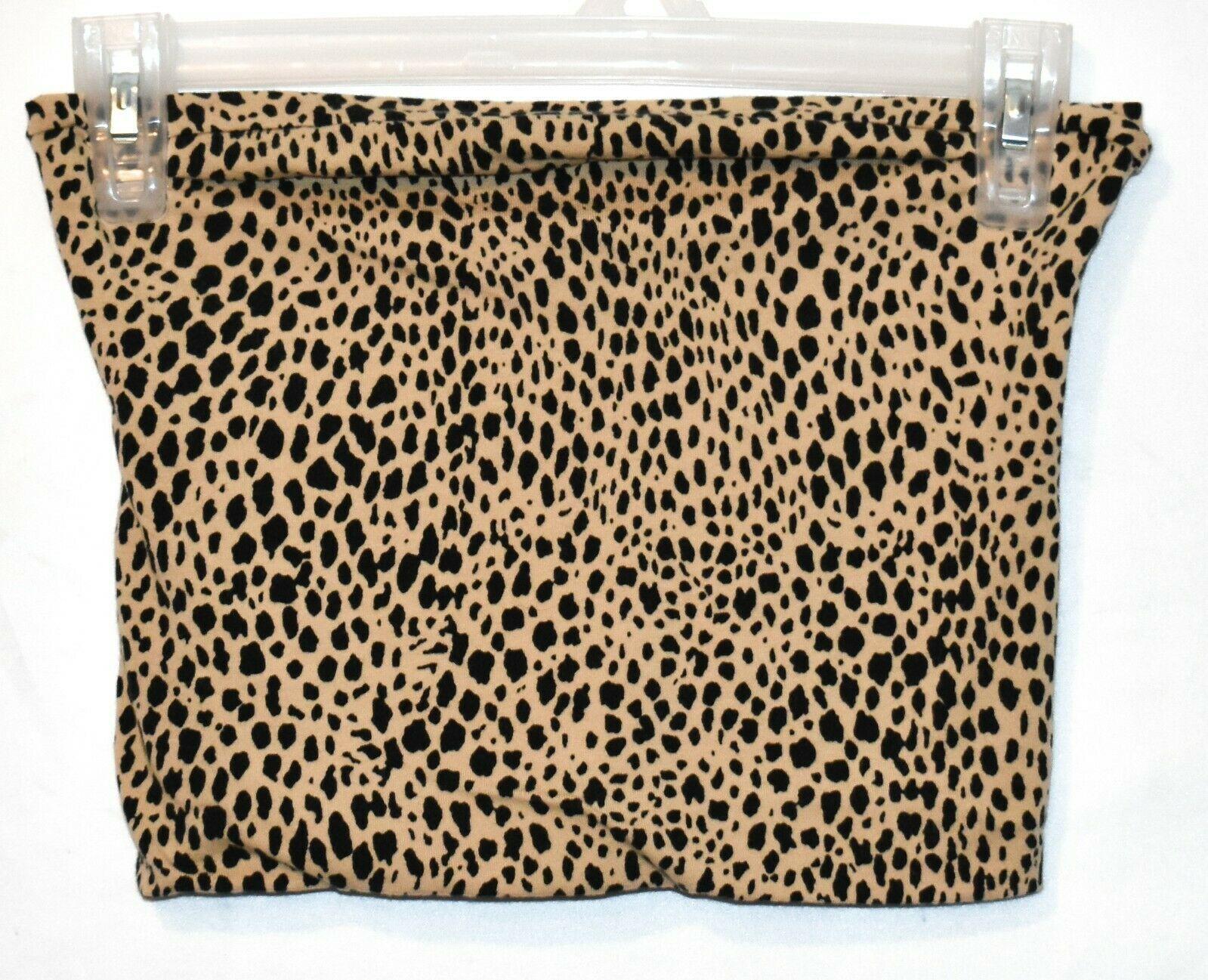 Brandy Melville Women's Cheetah Anima Print Crop Boob Tube Top