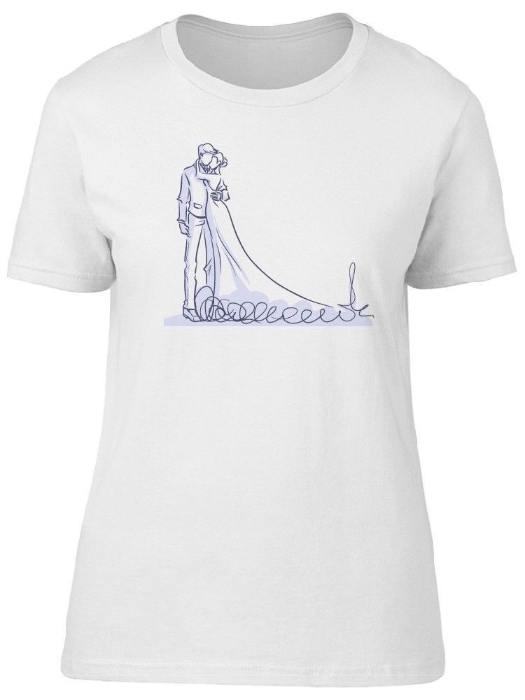Primary image for Wedding Couple Sketch, Cute Love Women's Tee -Image by Shutterstock